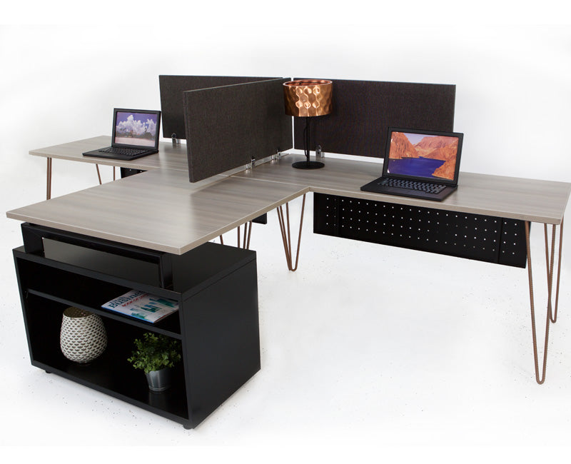 Industrial Modern Double Workstation - Online Office Furniture