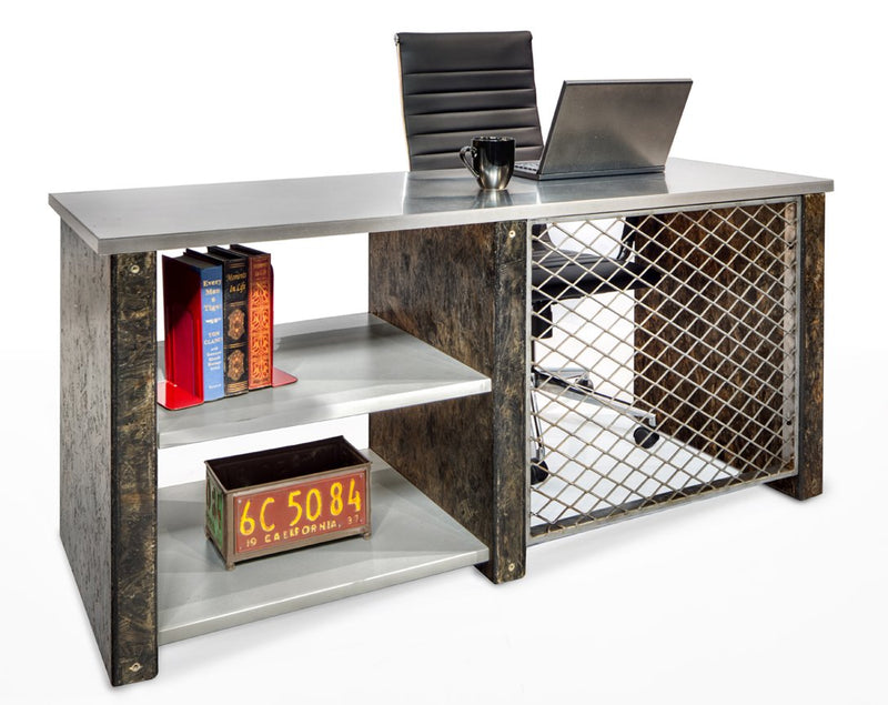 Urban Junior Industrial Credenza/Desk with Storage - Online Office Furniture