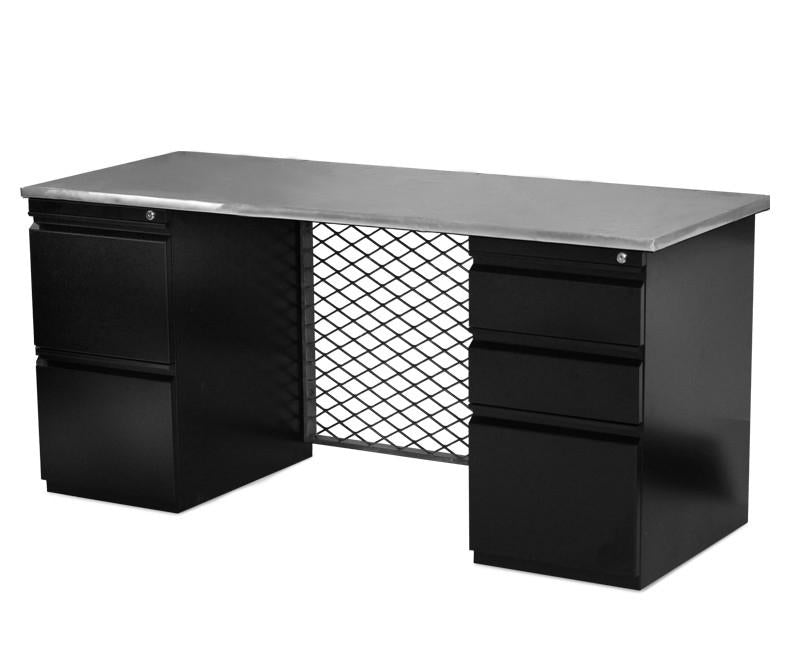 Interurban Aviator Desk with Storage - Online Office Furniture