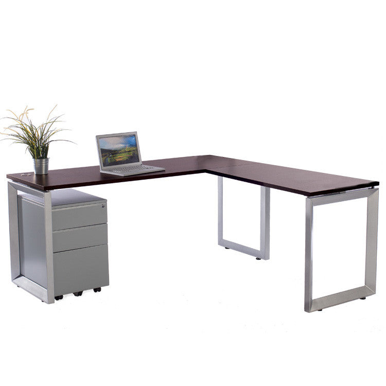 Options L shaped Desk with file