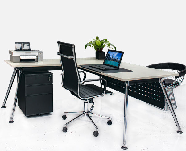 Chroma Series Executive Desk with Return - Online Office Furniture