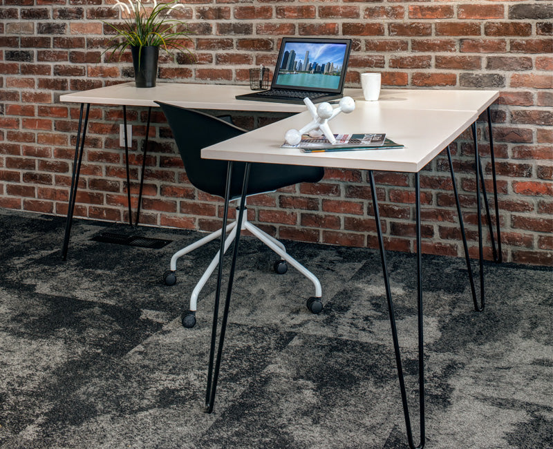 L Shape Hairpin Desk - Online Office Furniture