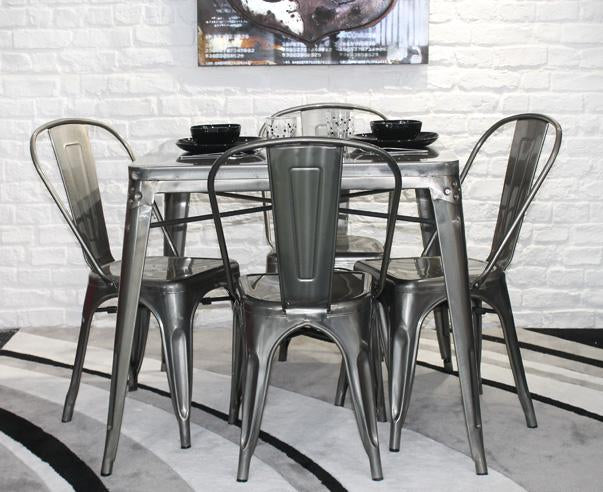 Metal Cafe Table and Chair Set - Online Office Furniture