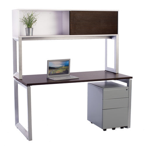 Options Straight Desk with Overhead Storage - Online Office Furniture