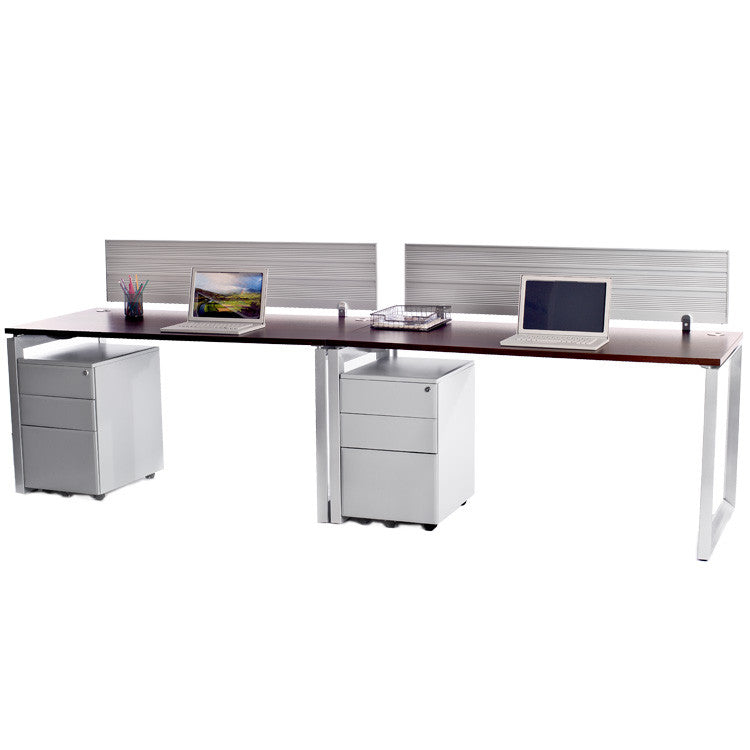 2 Pack Side by Side Options Workstations with File Storage - Online Office Furniture