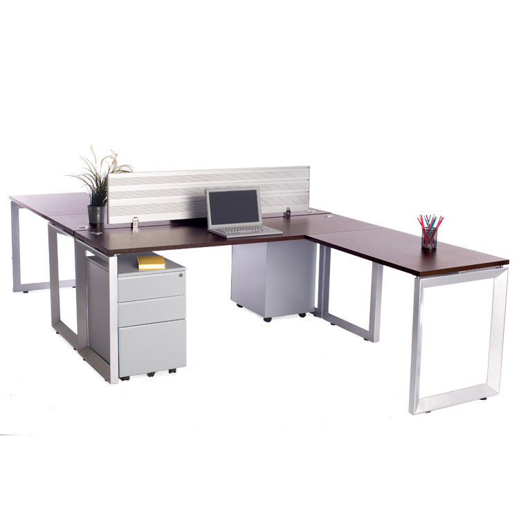 2 Pack Back to Back Options Workstations with Return