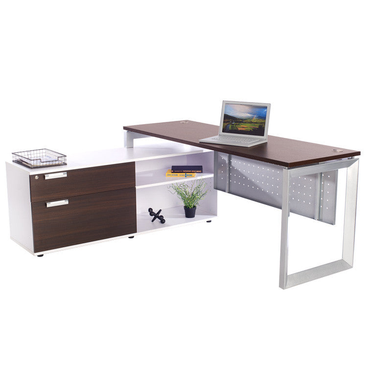 Options Straight Desk with Low Credenza - Online Office Furniture