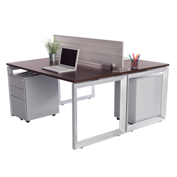 2 Pack Options Workstations with File Storage - Online Office Furniture