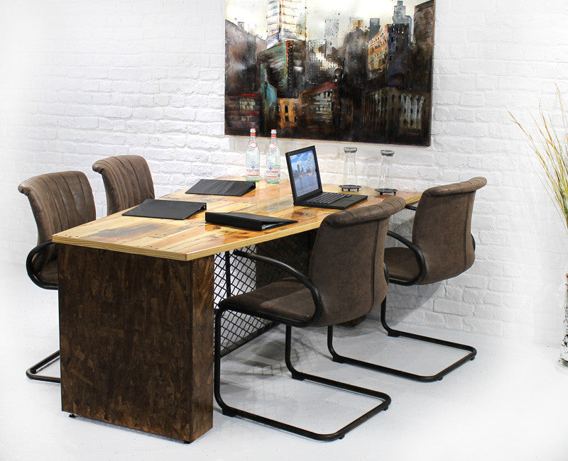 Reclaimed Wood Conference Table - Online Office Furniture