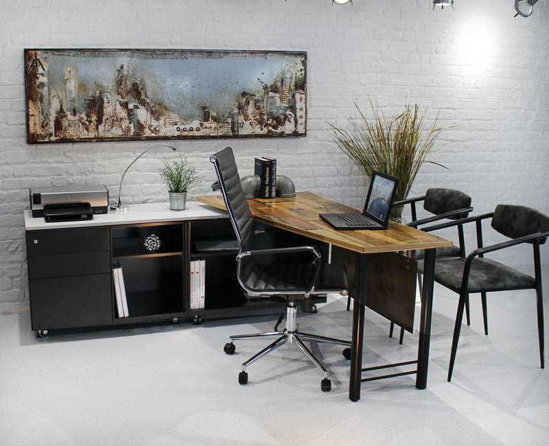 Reclaimed Wood Workstation