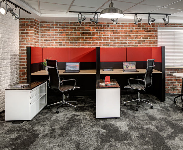Side-by-Side Workstation with Storage - Online Office Furniture
