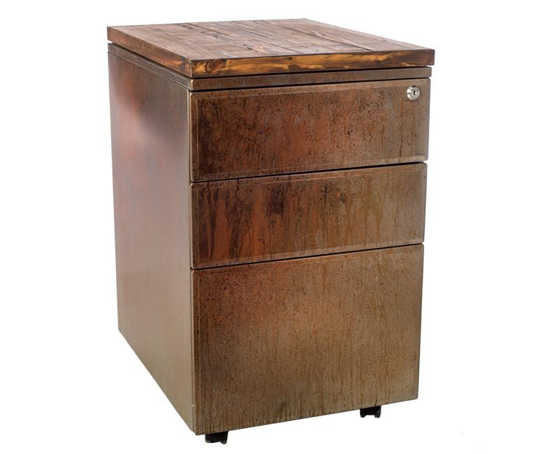 Rusted Metal File Cabinet