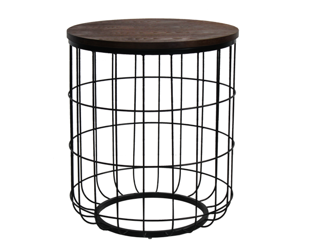 Industrial Wire End Table - Online Office Furniture