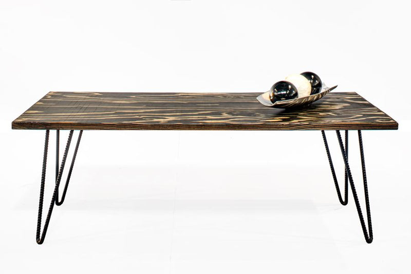 Wood and Rebar Coffee Table - Online Office Furniture