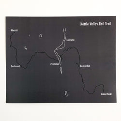 Kettle Valley Rail Trail Map Prints