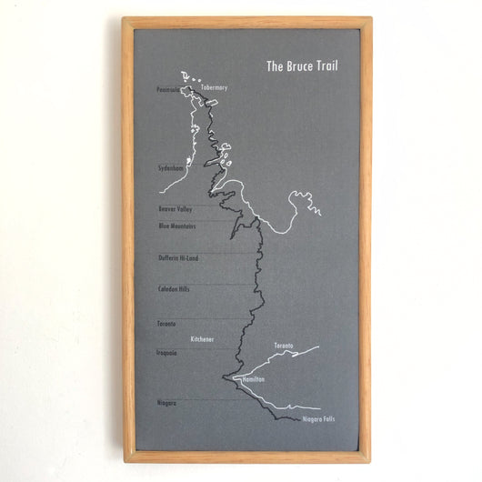 The Bruce Trail Map in Wooden Frame