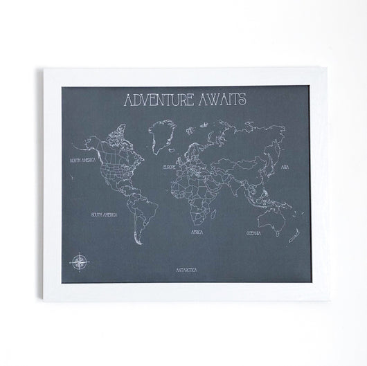 Adventure Awaits World Push Pin Map