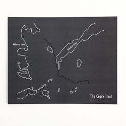 Crack Trail Map Prints