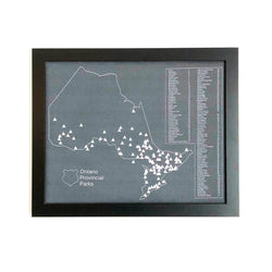 Ontario Provincial Parks Push Pin Map