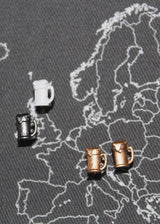 Beer Stein Map Pins / Map Tacks