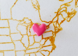Heart Map Pins / Map Tacks