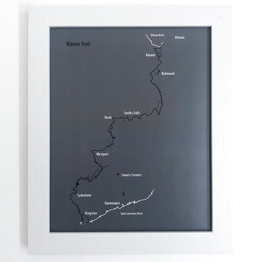 Rideau Trail Map Prints - Framed