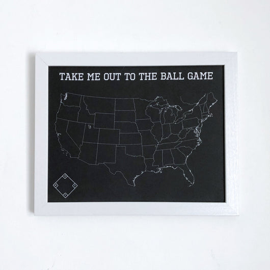 Baseball Fan Push Pin Map of MLB Ballparks
