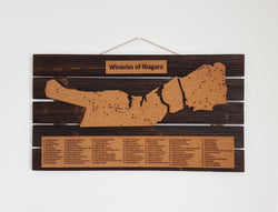 Wineries of Niagara Cork Maps