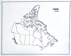 Embroidery Maps of Canada