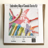Kits for Embroidery Maps of Canada
