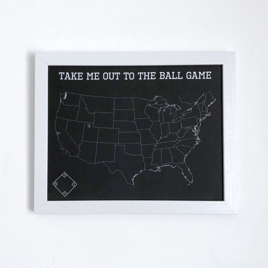 Take Me Out to the Ball Game - Baseball Fan Push Pin Map of MLB Ballparks