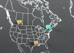 Vintage Style Trailer Map Pin / Tack