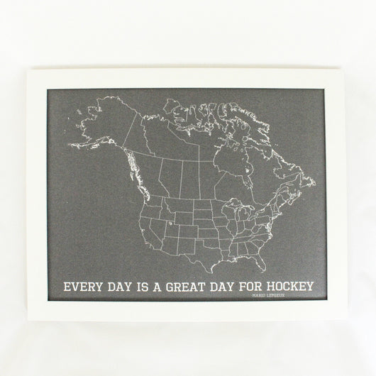 Hockey Fan Push Pin Map