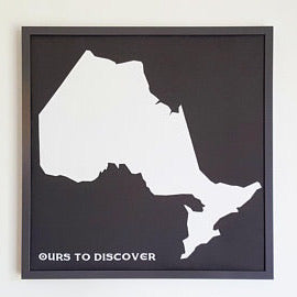 Pin Map of Ontario | Push Pin Map of Ontario Breweries or Campgrounds