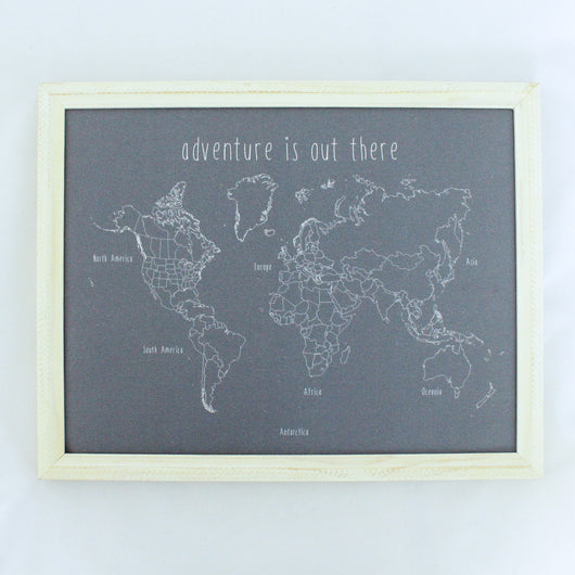 adventure is out there World Push Pin Map