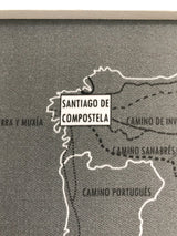 Camino Trail Push Pin Progress Maps