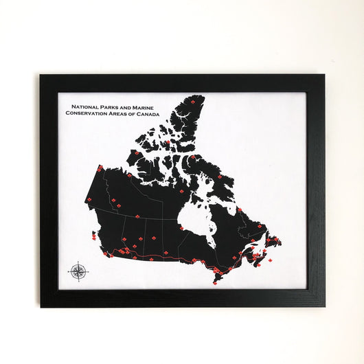 National Parks of Canada Push Pin Maps