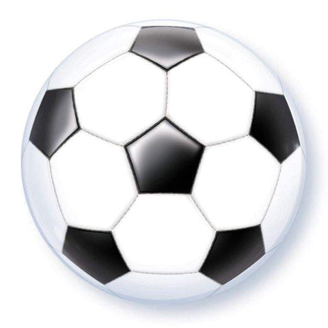 "Qualatex 22"" Bubble Balloon -Soccer Ball Football Design"