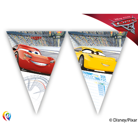 Disney Pixar CARS 3 - Triangle Flag Bunting Banner