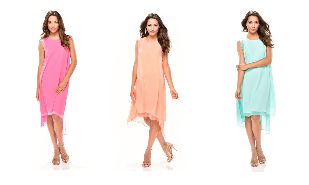 Sleeveless Summer Dress in three colors 50% OFF