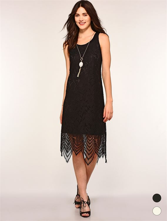 Lace Overlay Dress 50% OFF