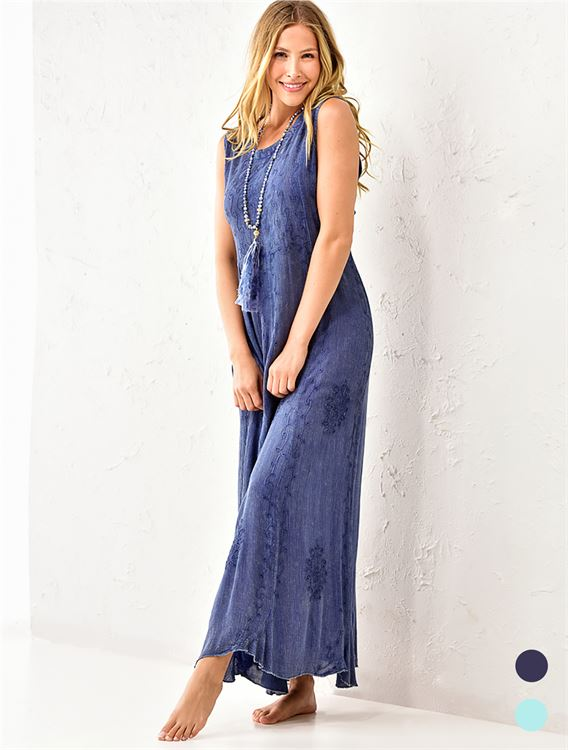Maxi Embroidered Summer Dress 50% OFF