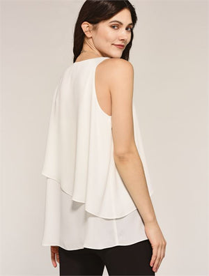 Layered Polyester Top 50% OFF