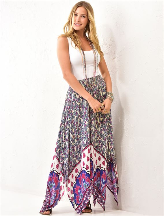 Hankerchief Hem Skirt 50% OFF