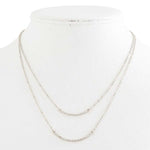 Double Chain Curved bar Necklace