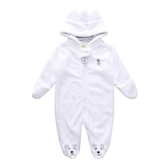Bear Baby Hooded Romper