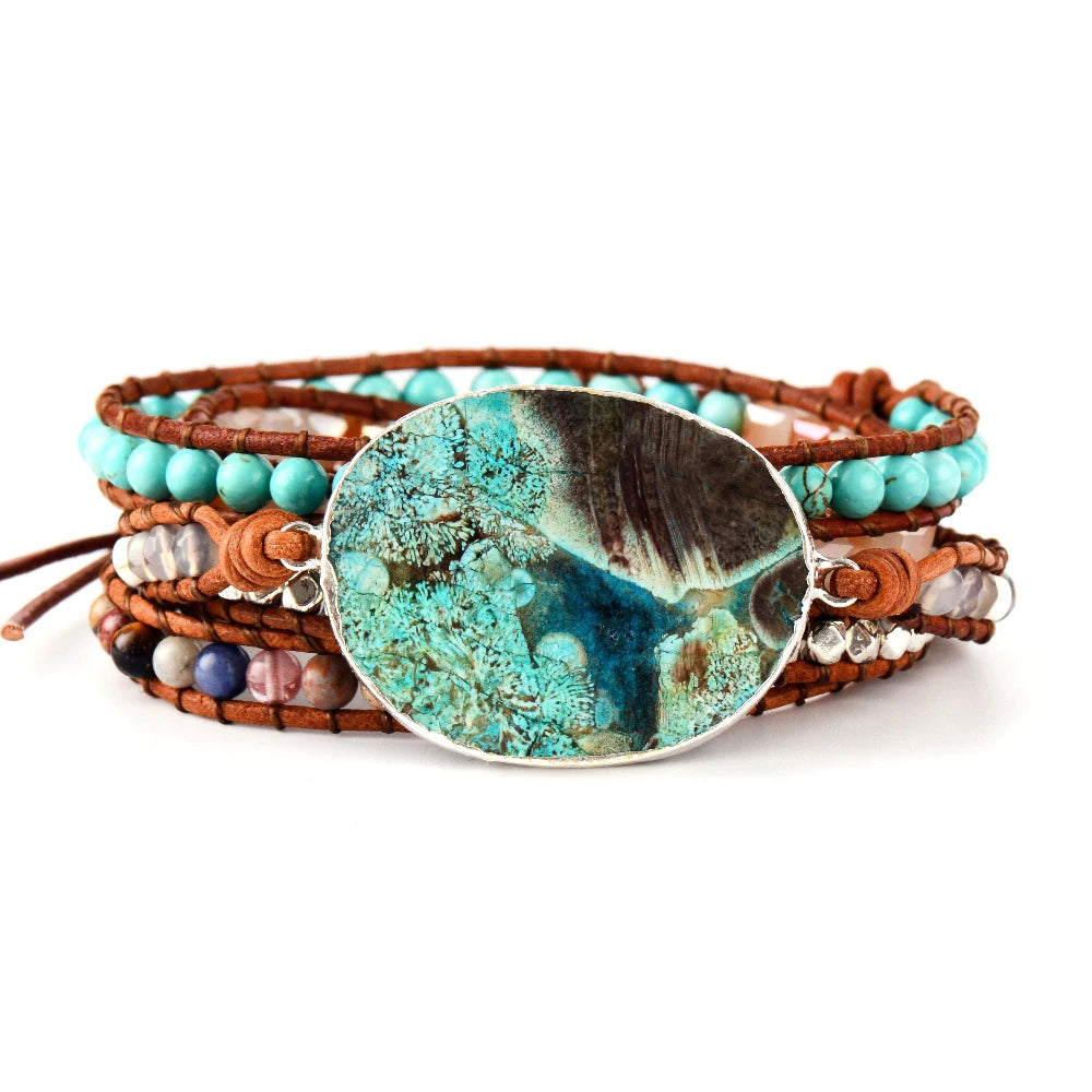 """Mother Earth"" - Jaspis Boho Armband"