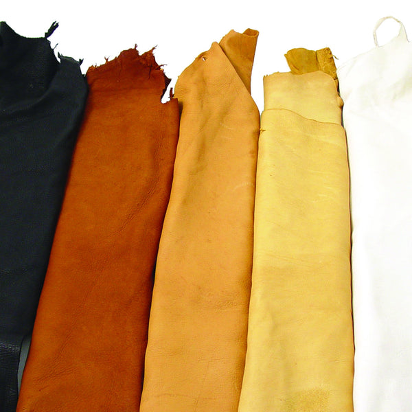 B Grade Deerskin Large Leather Hides - 2-3 oz - Deer Shack