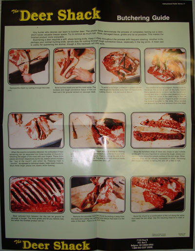 Deer Butchering Guide Poster - Deer Shack