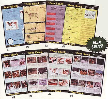 Whitetail Deer Instructional Posters - Set of 8 Educational Posters - Deer Shack